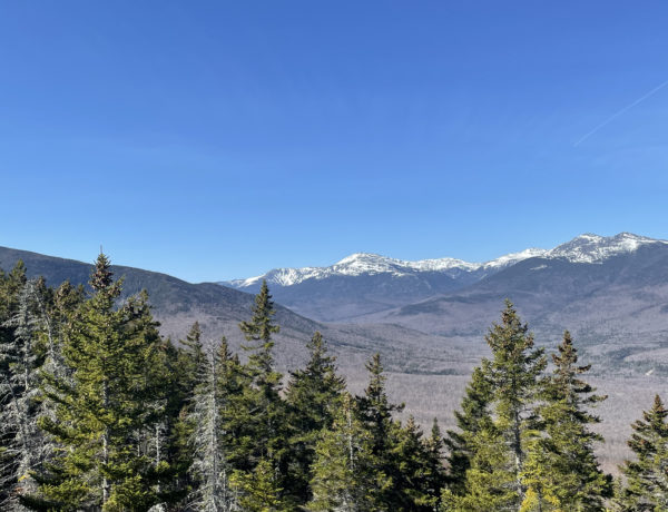 The Presidential Range, seen while hiking Mt. Moriah in the White Mountains, NH