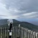 Observation deck, seen while hiking Cannon Mountain in the White Mountain National Forest in New Hampshire
