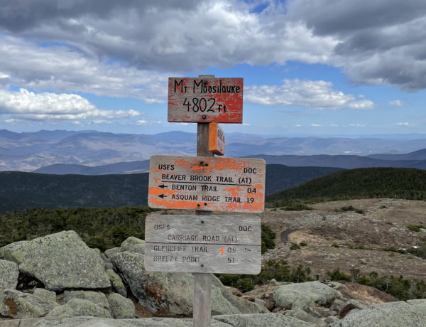 Summit of Mt. Moosilauke in the White Mountains, NH