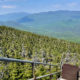 Stairs leading down from the observation tower, seen while hiking Mt. Carrigain in the White Mountains, New Hampshire